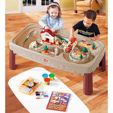 step 2 plastic train table step2 action train table walmart com