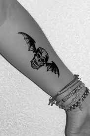 death bat tattoo on forearm tattoos book 65 000 tattoos designs