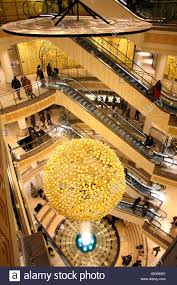 Large Christmas Decorations For Shops by Christmas Decoration In A Shopping Mall Many Golden Christmas