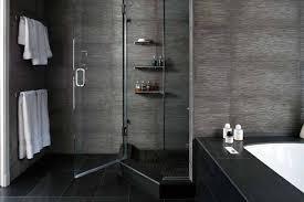 Wood Tile Bathroom by Bathroom Chic Black Nuance Bathroom Renovation Decortion Using