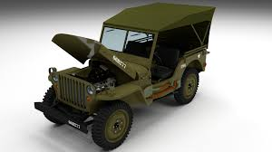 jeep open top full w chassis jeep willys mb military top hdri by dragosburian