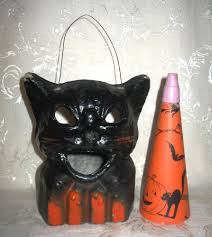 halloween paper lanterns paper mache black cat lantern used in the 1950 u0027s to light the way