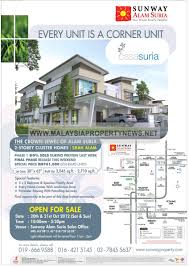 Suria Klcc Floor Plan by Sunway Alam Suria Cluster Homes For Sale From Rm761k