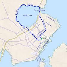Map Portland Maine by Run Washington Avenue To Back Cove