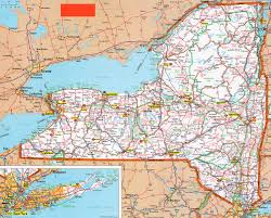 Road Map Of New York State by Www Ezilon Com Maps United States New York Counties And Road Maps