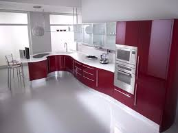 Curved Kitchen Cabinets by Kitchen Cabinets Red And White Kutsko Kitchen