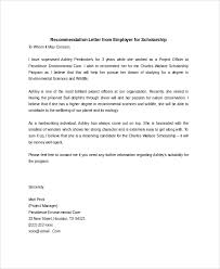 recommendation letter from employer the recommendation letter
