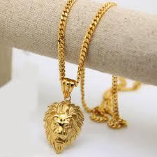 fashion long gold necklace images 100 gold color lion head pendants high quality fashion hiphop jpg