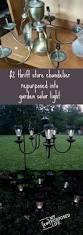 Solar Lights For The Garden Chandelier Solar Light My Repurposed Life