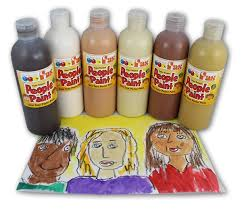 fas people paint in skin tone colours