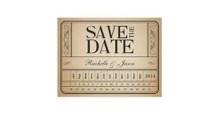 vintage save the date vintage ticket ii save the date punch out postcard zazzle