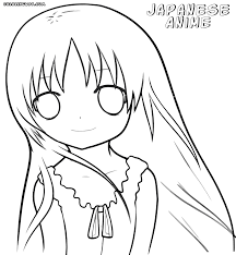 coloring japanese anime coloring pages