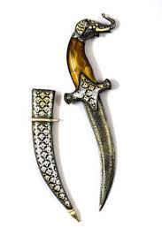 dagger silver damascus mughal antique knife vintage decorative