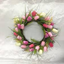 tulip wreath home accents 22 in tulip wreath with twig base 2405020hd the
