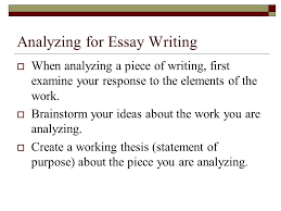 process essay thesis statement what is process analysis in writing an essay example of poorly