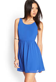 fit and flare dress forever 21 forever 21 fit flare dress in blue lyst