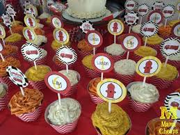 firefighter cupcake toppers truck birthday party ideas cheaps
