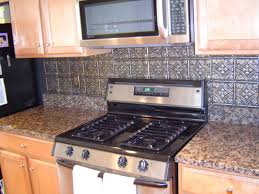 Metallic Kitchen Backsplash by Tin Tile For Backsplash Very Elegant Tin Backsplash For Kitchen