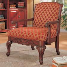 Gold Accent Chair Antique And Vintage Upholstered Red And Gold Accent Chair With