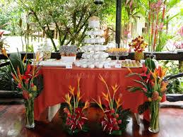Tropical Theme Wedding - tropical theme wedding dessert table mango walnut rum cake u2026 flickr