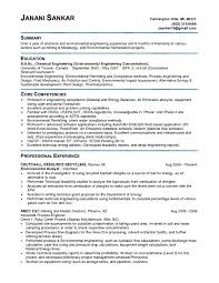 awesome collection of environmental engineer resume sample on