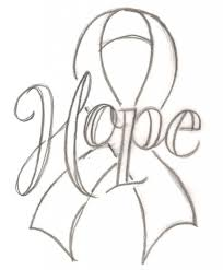 nice design cancer ribbon coloring pages awareness sheet