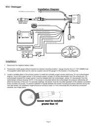 aem flex fuel wideband failsafe gauge no ff sensor 304910 user manual