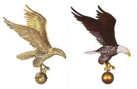 eagle ornaments for outdoor flagpoles gold or natural from flags