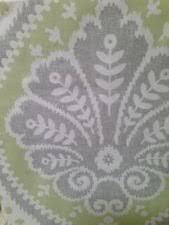 Grey Green Shower Curtain Cynthia Rowley Medallion Damask Fabric Shower Curtain