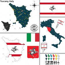 Tuscany Italy Map Map Of Tuscany Italy U2014 Stock Vector Sateda 65494961