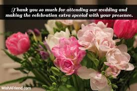 wedding wishes not attending thank you notes