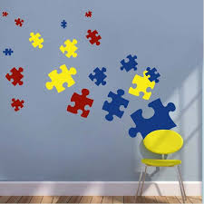 Puzzle Piece Wall Decals  Kids Wall Decor From Trendy Wall Designs - Wall design decals