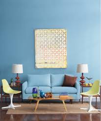Living Room With Blue Sofa Living Room Decorating Ideas Real Simple