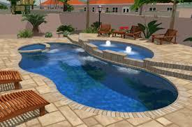 Deep Backyard Pool by Fiberglass Tanning Ledges Tallman Pools