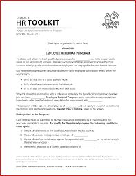 inspirational employee referral formal letter