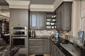 fancy kitchen wall colors with gray cabinets using light brown