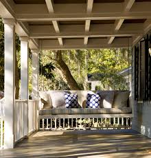 custom lowcountry front porch swing low country homes
