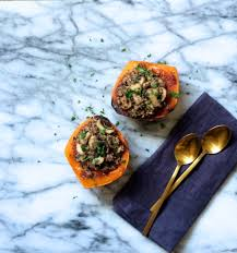 quinoa thanksgiving stuffing healthy recipe roasted butternut squash with quinoa mushroom
