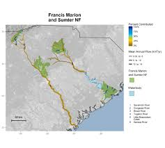 Ocala National Forest Map National Forest Contributions To Streamflow Southern Region