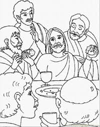 166 Best Bible Coloring Pages Images On Pinterest Christmas Last Supper Coloring Page