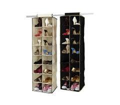 hanging shoe caddy 16 pocket double hanging shoe shelf dorm room organization product