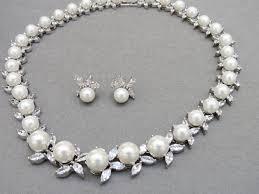 wedding necklace pearls images Alicia pearl wedding necklace set bella bride design jpg