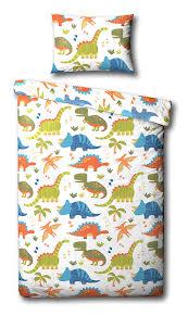 Childrens Single Duvet Covers Children U0027s Dinosaur Single Duvet Cover Bed Set Inc Pillowcase