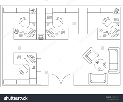 design elements for floor plan premises thin lines icons of