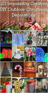 christmas outdoor decorations 20 impossibly creative diy outdoor christmas decorations diy