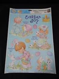 precious moments easter spring static cling window decorations