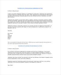sample professional reference letter 6 documents in pdf word