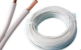 and black copper electric wire cable parallel spt twin flat wire