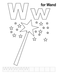 wand free alphabet coloring pages alphabet coloring pages of