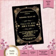 great gatsby style art deco prom invitation 1920 u0027s